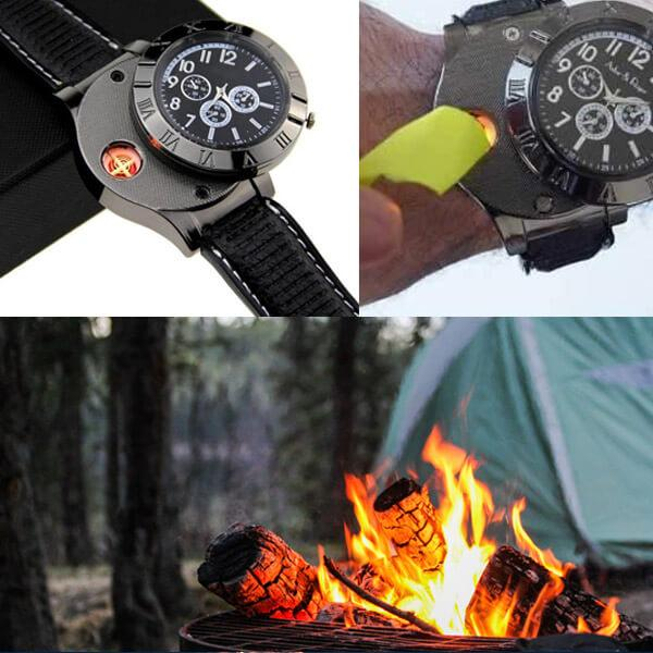 Digital USB Lighter Watch