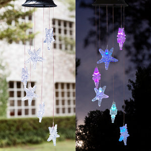 Solar-powered Dangling Starfish Light
