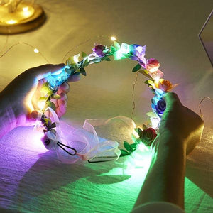 LED Glowing Hair Wreath
