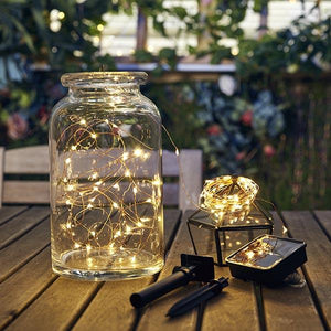 Solar-Powered Copper Wire Lights