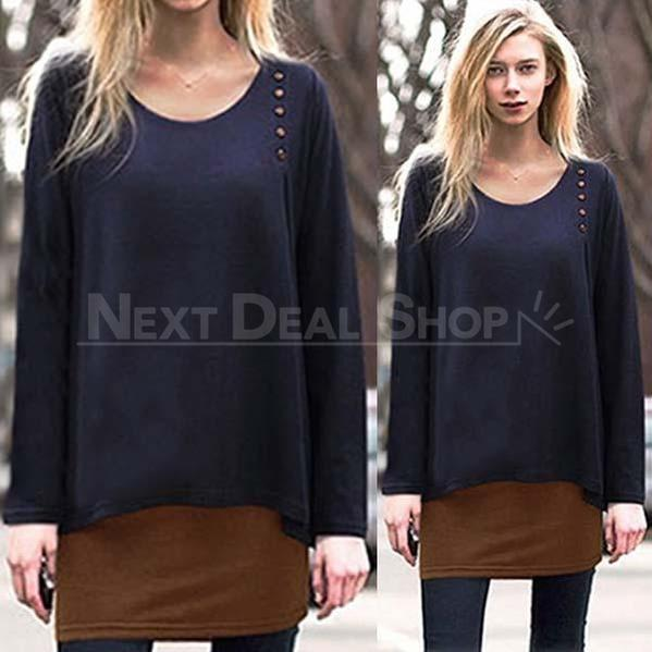 Double-Layer Long Sleeve Top-SALORA-Next Deal Shop