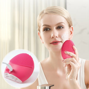 Electric Silicone Facial Massage Cleaner