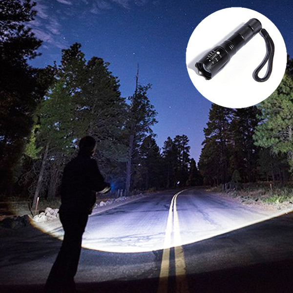 LED Ultra Bright Tactical Flashlight with Adjustable Focus