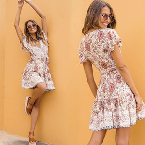 Floral Cross-Over Sundress