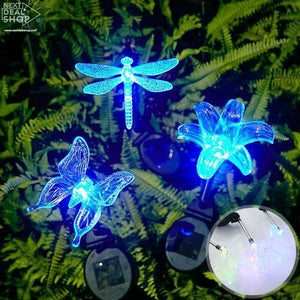 Solar-Powered LED Color Changing Lawn Lamp