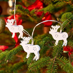 LED Christmas Reindeer String Lights (Battery Operated)