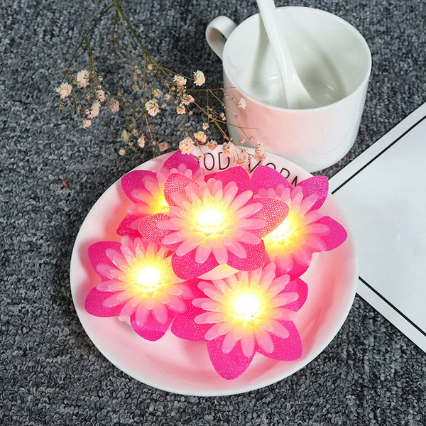 LED Daisy Tea Lights