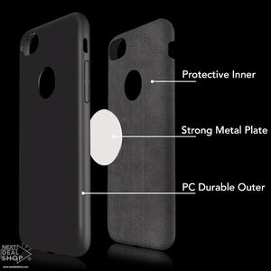 Slim Protective iPhone Case with Integrated Metal Plate