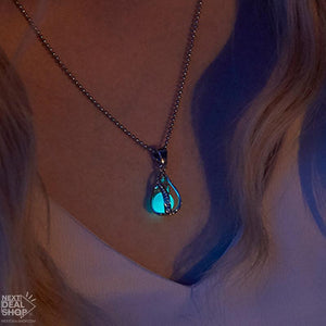 Glow-in-the-Dark Mermaid Teardrop Necklace