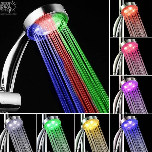 Color Changing LED Shower Head (No Battery / Electricity Needed)