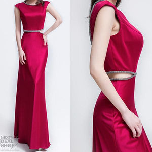 Royal Maxi Dress with Cut Out Detail