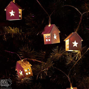 Solar-Powered Cozy House String Lights