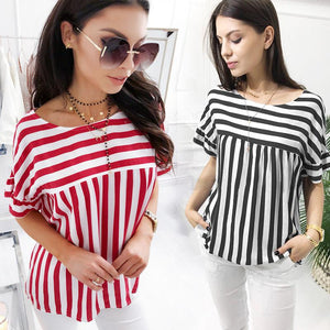 Femme Stripe Short Sleeve Top