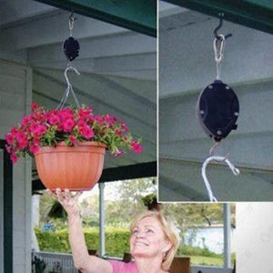 2 Pcs Plant Hook Pulley - Easy Way to Care For Your Hanging Plants!
