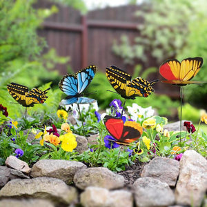 24 Pcs Butterfly Garden Stakes