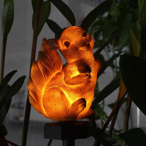 Solar-Powered Decorative Squirrel Lawn Light