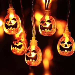 Halloween Jack-O-Lantern String Lights