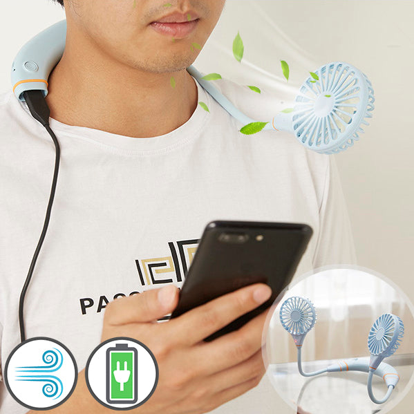 2-in-1 Lazy Fan with Power Bank
