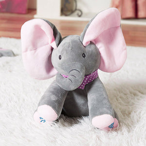 Peek-A-Boo Musical Elephant Plush