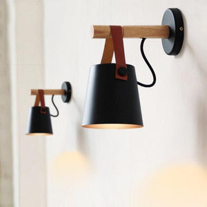 Nordic Style Wooden Hanging Wall Sconce