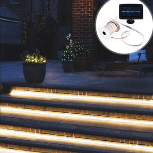 Solar-Powered 16ft Outdoor LED Light Strip