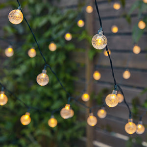 Solar-Powered Bubble Crystal Ball String Lights