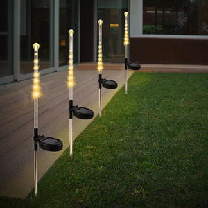 Solar-Powered Falling Rain LED Light