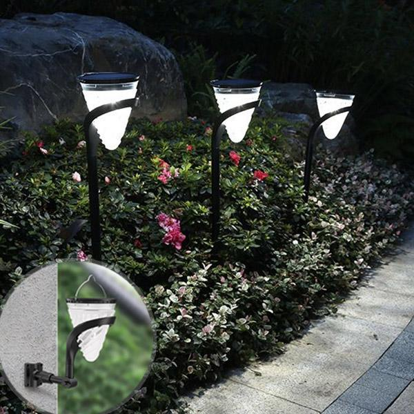 2 in 1 Solar-Powered Landscape And Wall Light