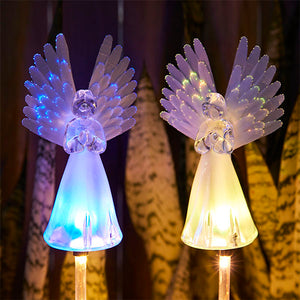 Solar-Powered LED Angel Light