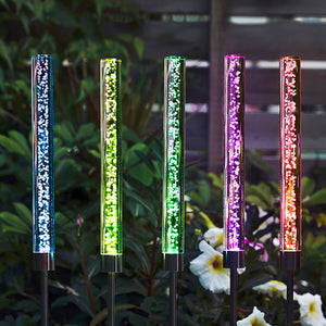 Solar-Powered LED Color Changing Bubble Light