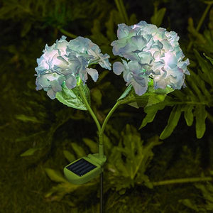 Solar-Powered LED Hydrangea Stake Light