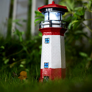 Solar-Powered LED Lighthouse