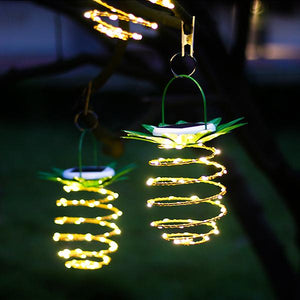 Solar-Powered LED Pineapple Light