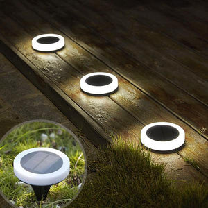 Solar-Powered LED Ring Ground Light
