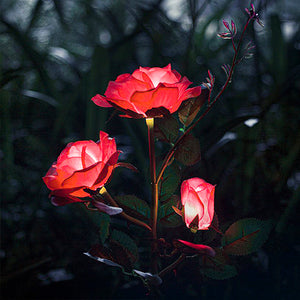 Solar Powered LED Rose Stake