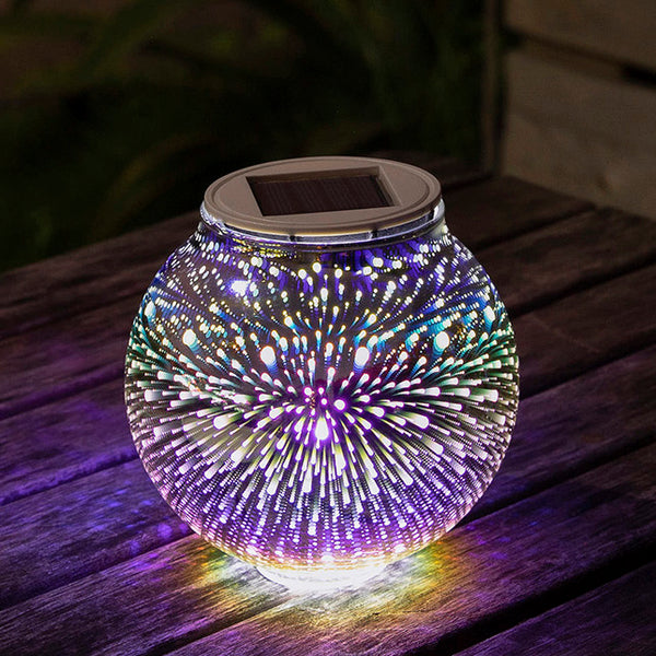 Solar-Powered Star Glass Ball LED Lamp
