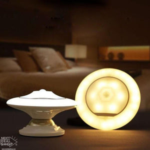 UFO Rotating Motion Sensor Magnetic Light