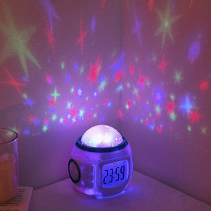 Starry Night Sky Projector Lamp Alarm Clock