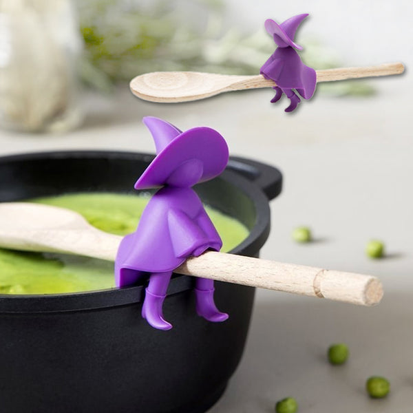 Silicone Witch Spoon Holder