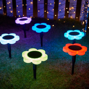 Solar-Powered LED Flower Lawn Light
