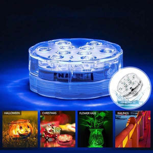RGB Submersible Remote Control LED Light