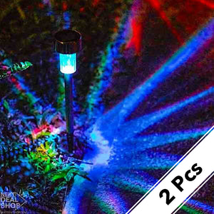 Solar-Powered Multi-Color LED Garden Lights
