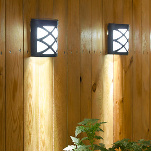 Solar-Powered Wall Mount LED Garden Light