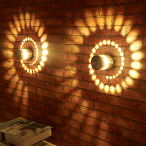 2 Pcs Spiral Sconce Decorative Wall Lamp