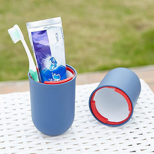 2 Pcs Toothbrush Travel Cup