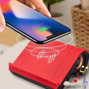 Wireless Phone Charger with Bluetooth Speaker
