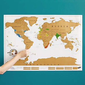 World Travel Scratch Map - Show Off Your Travel Footprint!