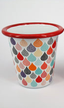 Enamel Tumbler - 1 x Colourful raindrops
