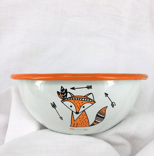 Enamel Bowl - Cute Foxes