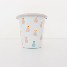 Enamel Tumblers - Pink Pear Design - Set of 4